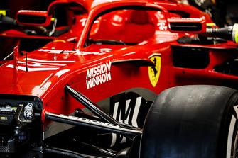 Philip Morris Mission Winnow branding on the Ferrari SF71H