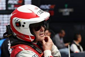 Tom Kristensen prepares to drive