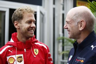 Sebastian Vettel, Ferrari en Adrian Newey, Red Bull Racing