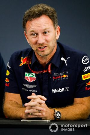 Christian Horner, Team Principal, Red Bull Racing, en conférence de presse