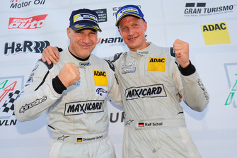 Podium: #588 Porsche 997 GT3 Cup: Christopher Gerhard, Ralf Schall