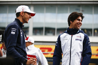 Esteban Ocon, Racing Point Force India et Lance Stroll, Williams Racing