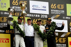 Podium: #42 BMW Team Schnitzer BMW M6 GT3: Augusto Farfus with Charly Lamm, Team principal BMW Team Schnitzer, #888 Mercedes-AMG Team GruppeM Racing Mercedes - AMG GT3: Maro Engelm #1 Mercedes-AMG Team GruppeM Racing Mercedes - AMG GT3: Edoardo Mortara
