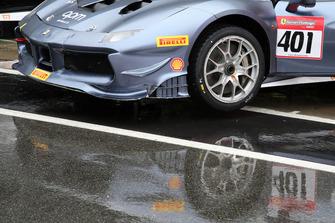 Dettaglio della #401 Ferrari 488, Blackbird Concessionaires: Philippe Prette