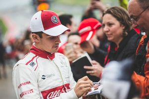 Charles Leclerc, Alfa Romeo Sauber F1 Team signs autographs for the fans