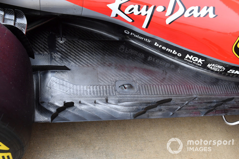 Задняя часть днища Ferrari SF71H