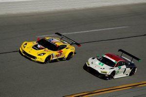 #4 Corvette Racing Corvette C7.R, GTLM: Oliver Gavin, Tommy Milner, Marcel Fassler, #8 Starworks Motorsport Audi R8 LMS GT3, GTD: Parker Chase, Ryan Dalziel, Ezequiel Perez Companc, Chris Haase