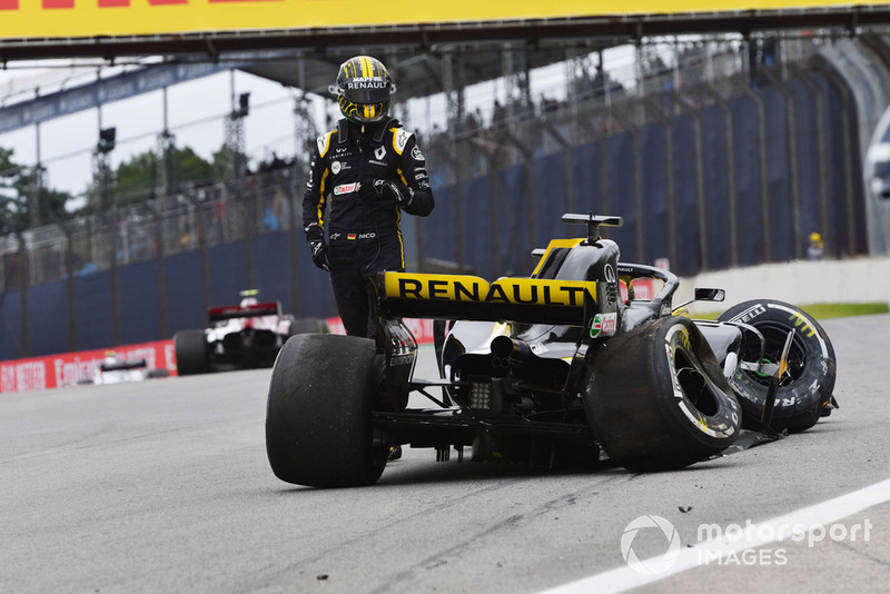 Авария: Нико Хюлькенберг, Renault Sport F1 Team RS18