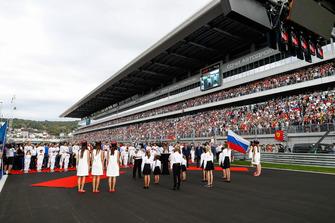 Pre race grid celebrations
