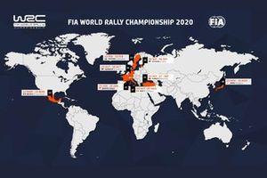 Calendario 2020 del WRC