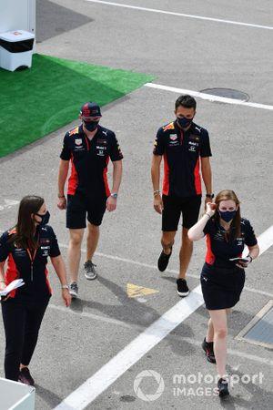 Max Verstappen, Red Bull Racing, and Alex Albon, Red Bull Racing