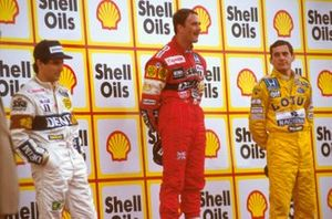 Nigel Mansell, Williams, Nelson Piquet, Williams, Ayrton Senna, McLaren