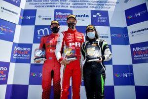 Подиум первой гонки региональной Формулы 3 в Мизано