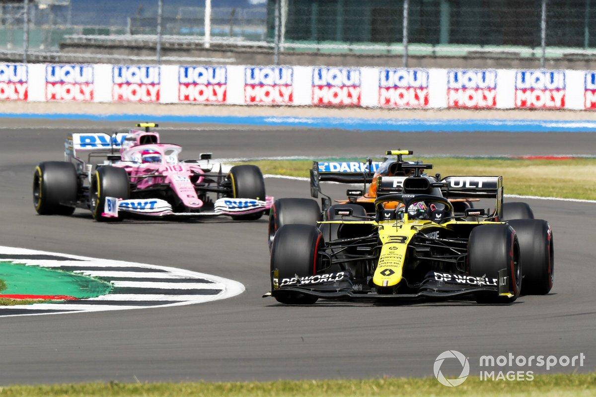 Daniel Ricciardo, Renault F1 Team R.S.20, Lando Norris, McLaren MCL35, Lance Stroll, Racing Point RP20