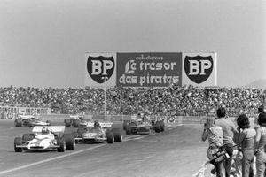 Jo Siffert, BRM P160, Jacky Ickx, Ferrari 312B2, Ronnie Peterson, March 711 Ford, GP di Francia del 1971