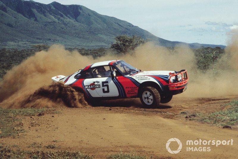 Safari Rally 1974: Bjorn Waldegard, Hans Thorszelius, Porsche 911