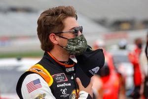 Noah Gragson, JR Motorsports stands for the National Anthem