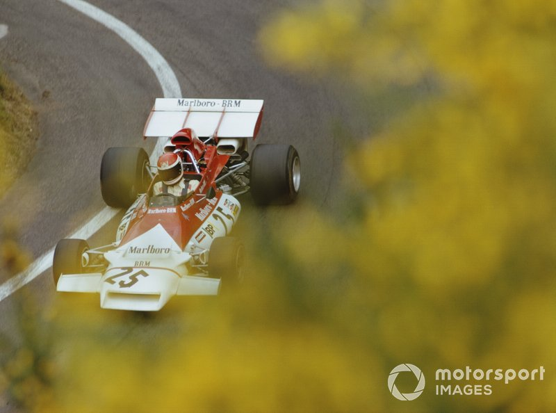 Helmut Marko, BRM P160B, durante la práctica