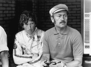 Jochen Rindt, Lotus 72C-Ford, con Colin Chapman