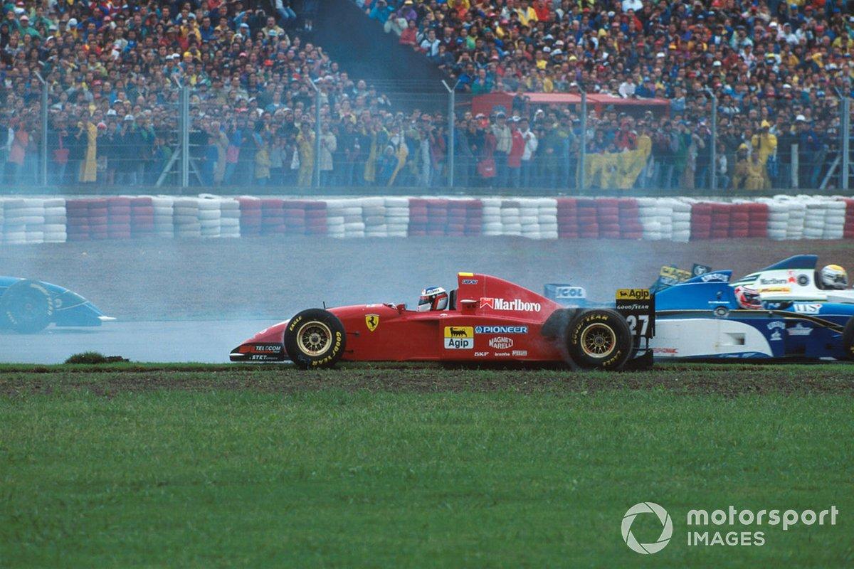 Jean Alesi, Ferrari 412T2 spins