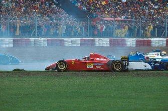 Testacoda di Jean Alesi, Ferrari 412T2, GP d'Argentina del 1995
