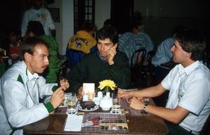 Andy Wallace, Damon Hill, and Martin Donnelly