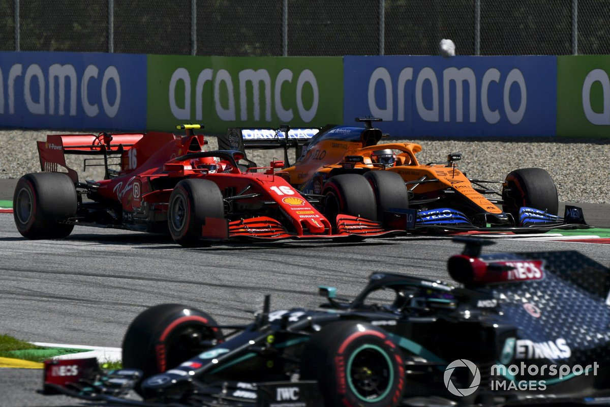 Lewis Hamilton, Mercedes F1 W11 EQ Performance, Charles Leclerc, Ferrari SF1000, Carlos Sainz Jr., McLaren MCL35