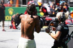 Lewis Hamilton, Mercedes-AMG Petronas F1, on the grid