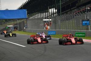 Charles Leclerc, Ferrari SF1000, Sebastian Vettel, Ferrari SF1000, Sergio Pérez, Racing Point RP20