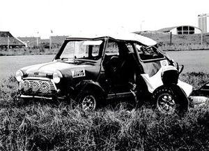 Gecrashte Mini Cooper S op Circuit Zandvoort