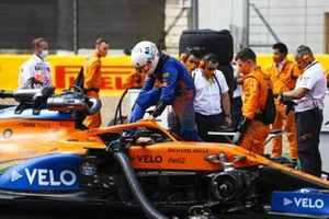 Lando Norris, McLaren, arrives on the grid