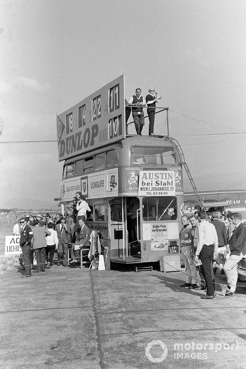 Их встретили весьма незамысловатые условия: пресс-центр размещался в старом двухэтажном автобусе, крыша которого одновременно служила информационным табло