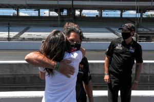 Michael Andretti, Andretti Herta with Marco & Curb-Agajanian Honda celebrates winning the NTT P1 Pole Award