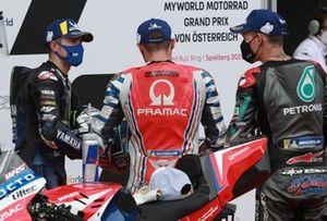 Maverick Vinales, Yamaha Factory Racing, Jack Miller, Pramac Racing, Fabio Quartararo, Petronas Yamaha SRT