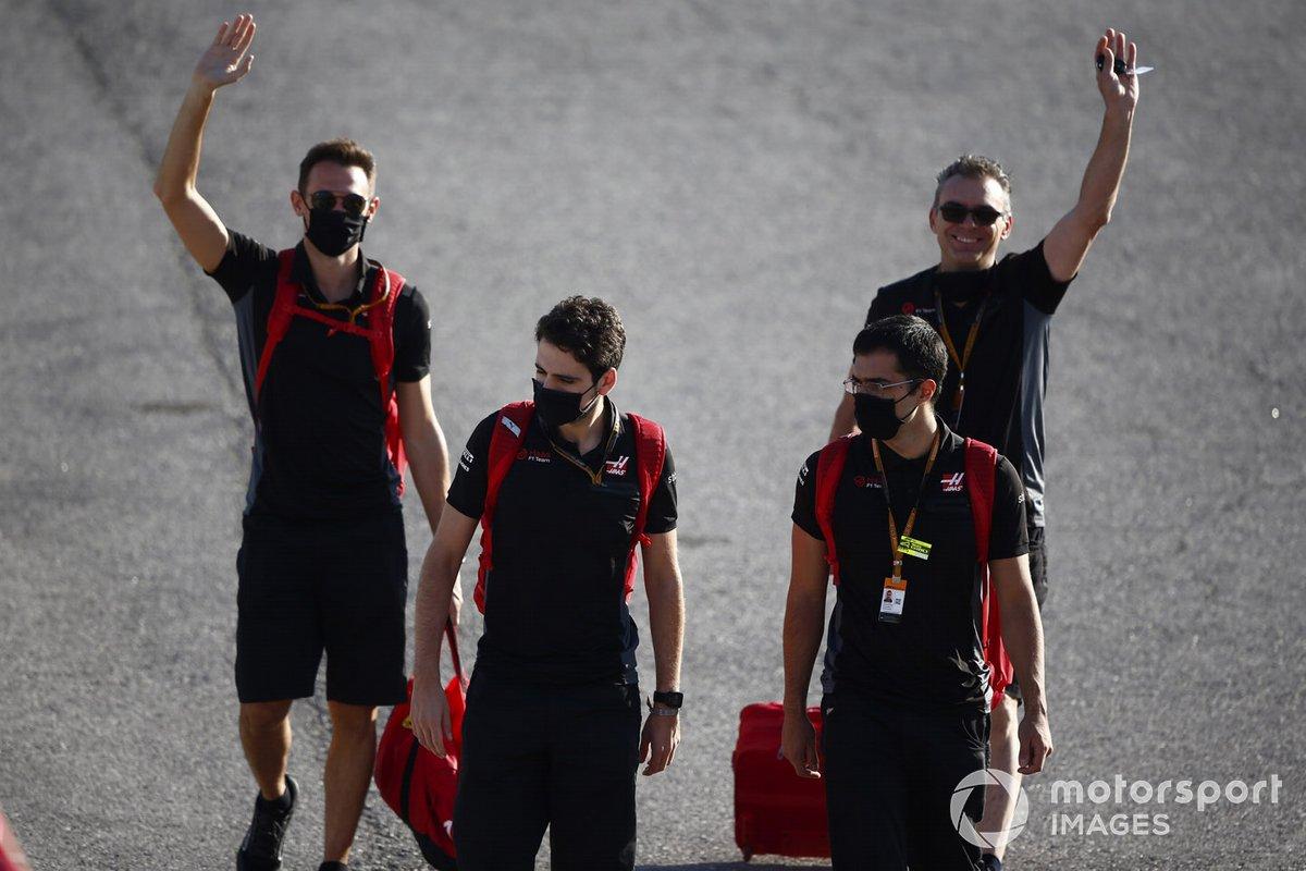 Miembros del equipo Haas