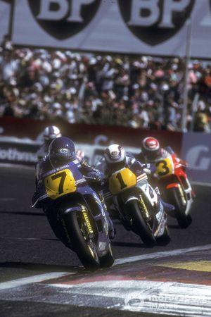 Christian Sarron, Team Gauloises Blondes Yamaha Mobil 1, Wayne Gardner, Rothmans Honda/HRC, Eddie Lawson, Marlboro Yamaha Team Agostini