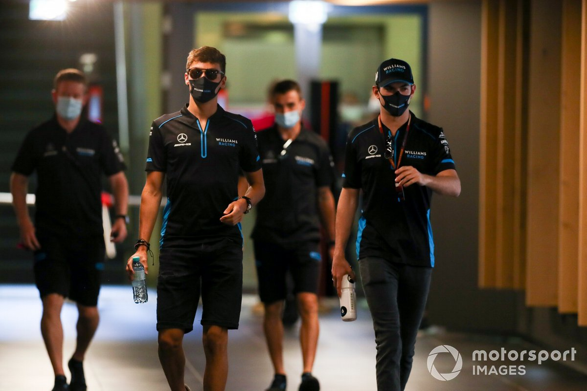 George Russell, Williams Racing e Nicholas Latifi, Williams Racing