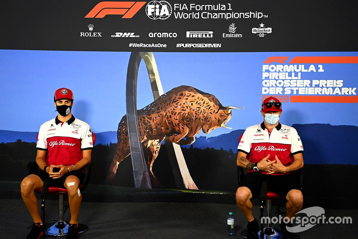 Antonio Giovinazzi, Alfa Romeo and Kimi Raikkonen, Alfa Romeo in the press conference