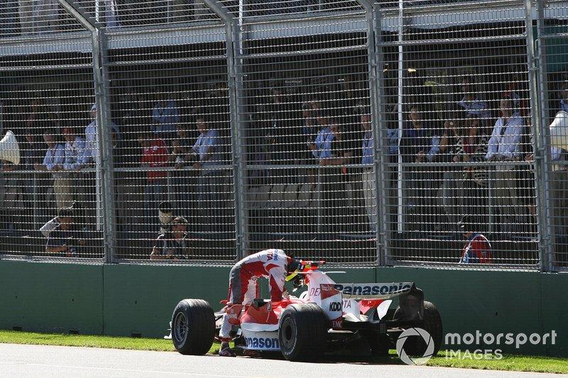 Ralf Schumacher, Toyota abandonne en fin de course