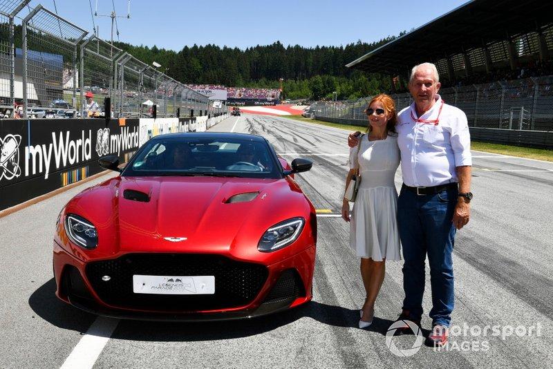 Helmut Markko, Consultor, Red Bull Racing, y Geri Horner