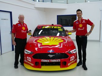 Fabian Coulthard and Dick Johnson, DJR Team Penske Ford Mustang