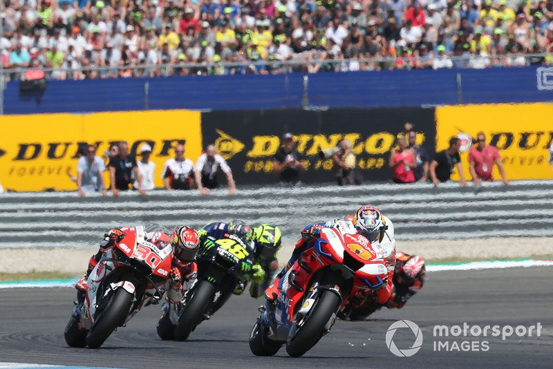 Takaaki Nakagami, Team LCR Honda, Valentino Rossi, Yamaha Factory Racing, en Assen