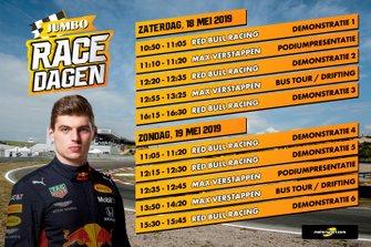 Tijdschema Max Verstappen bij Jumbo Racedagen 2019