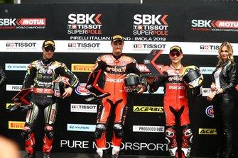 Jonathan Jonathan Rea, Kawasaki Racing Team, Chaz Davies, Aruba.it Racing-Ducati Team, Alvaro Bautista, Aruba.it Racing-Ducati Team