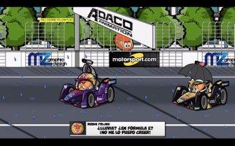 Robin Frijns y Andre Lotterer durante el ePrix de París 2019