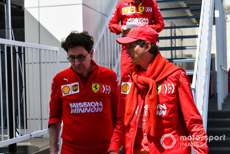 Mattia Binotto, Team Principal Ferrari and John Elkann, Chairman Fiat Chrysler Automobiles