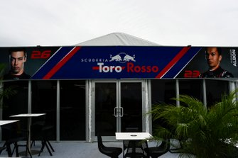The Toro Rosso hospitality area