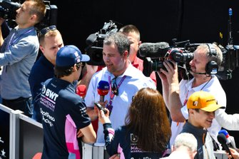 Lance Stroll, Racing Point speaks to the Ted Kravitz, Sky TV