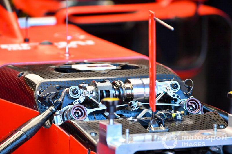 Suspension details on the Ferrari SF90