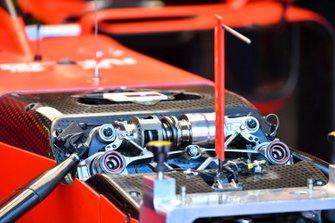 Suspension details on the Ferrari SF90